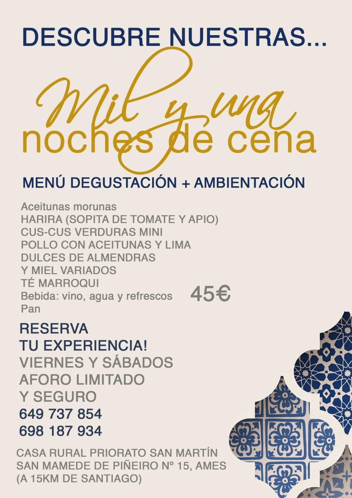 Mil y una noches de cena - Priorato San Martín